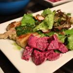 Lamb with Beetroot Salad and Radish Salad