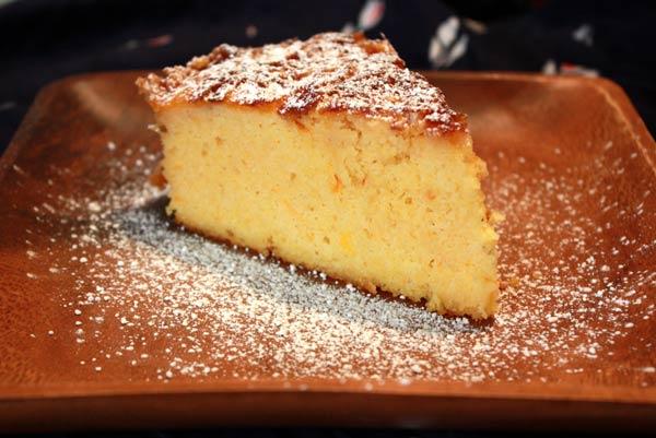 Egg Free Orange Polenta Cake