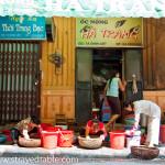 Activity outside our hostel in Ha Noi, Vietnam