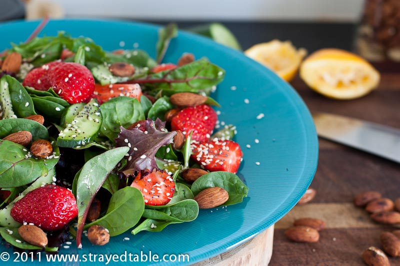 Strawberry Salad w Vanilla Lemon Dressing - Recipe