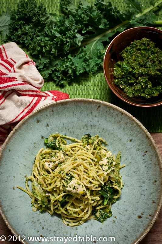 Kale & Coriander Pesto with Chicken Pasta - Recipe