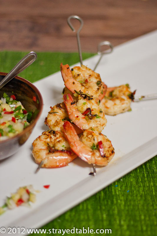 Prawn Skewers & Pineapple Salsa - Recipe