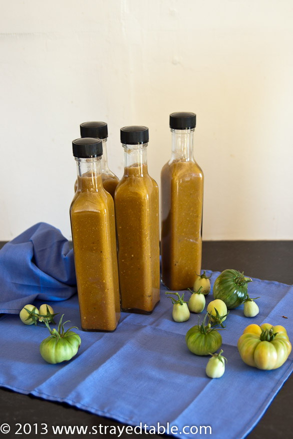Green Tomato Chili Sauce Recipe Strayed From The Table
