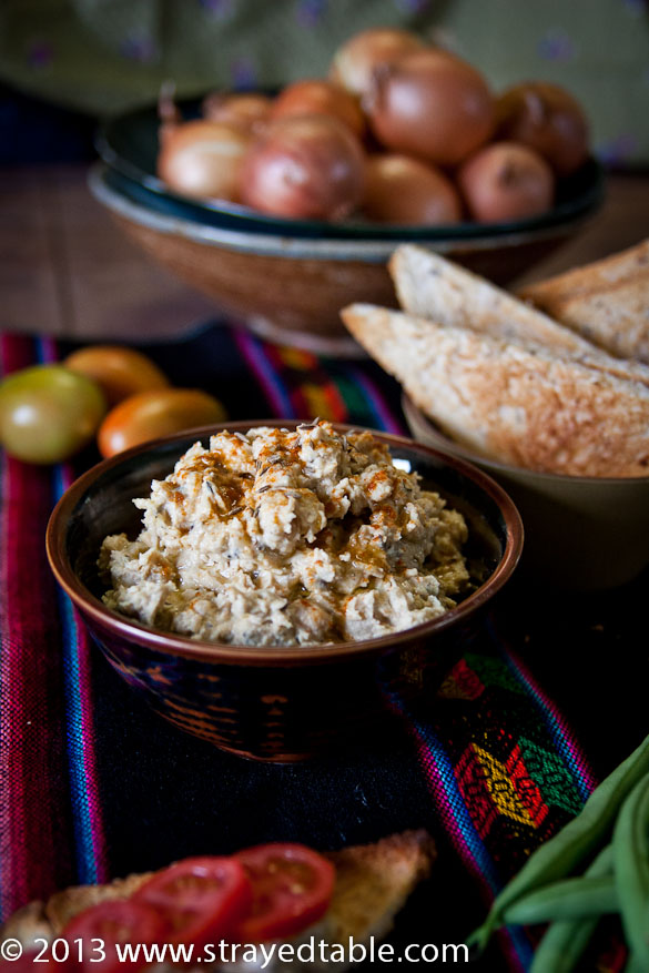 Zesty Chickpea & Cumin Dip Recipe @ Strayed from the Table