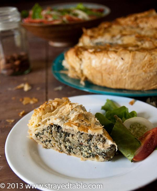 Rustic Spinach & Ricotta Filo Pie Recipe