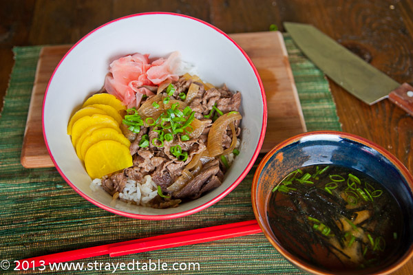 Gyudon Recipe, (Beef Rice Bowl Recipe)