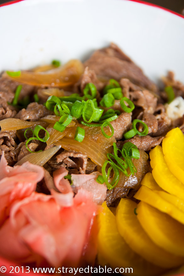 Gyudon Recipe, (Beef Rice Bowl Recipe) - Strayed from the ...