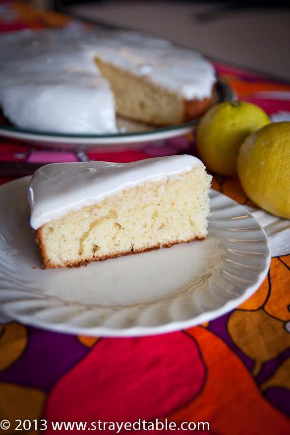 Winter Lemon Cake Recipe @ Strayed from the Table