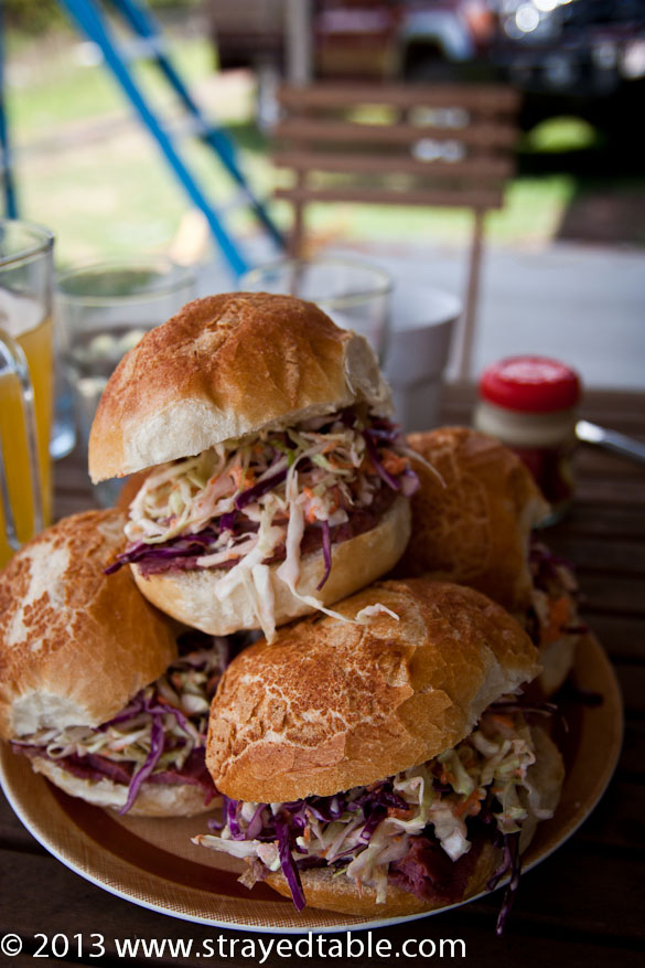 Coleslaw & Corned Beef Roll Recipe @ Strayed from the Table