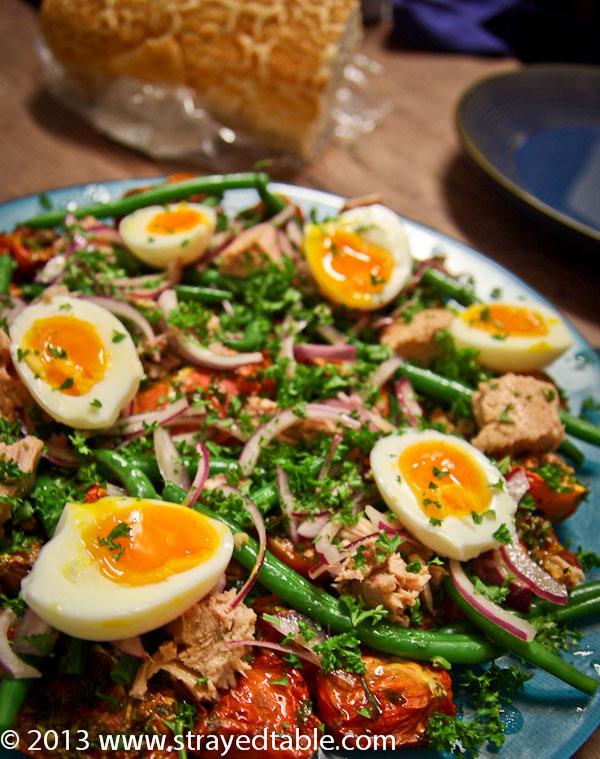 Roasted Tomato Salad Nicoise Recipe