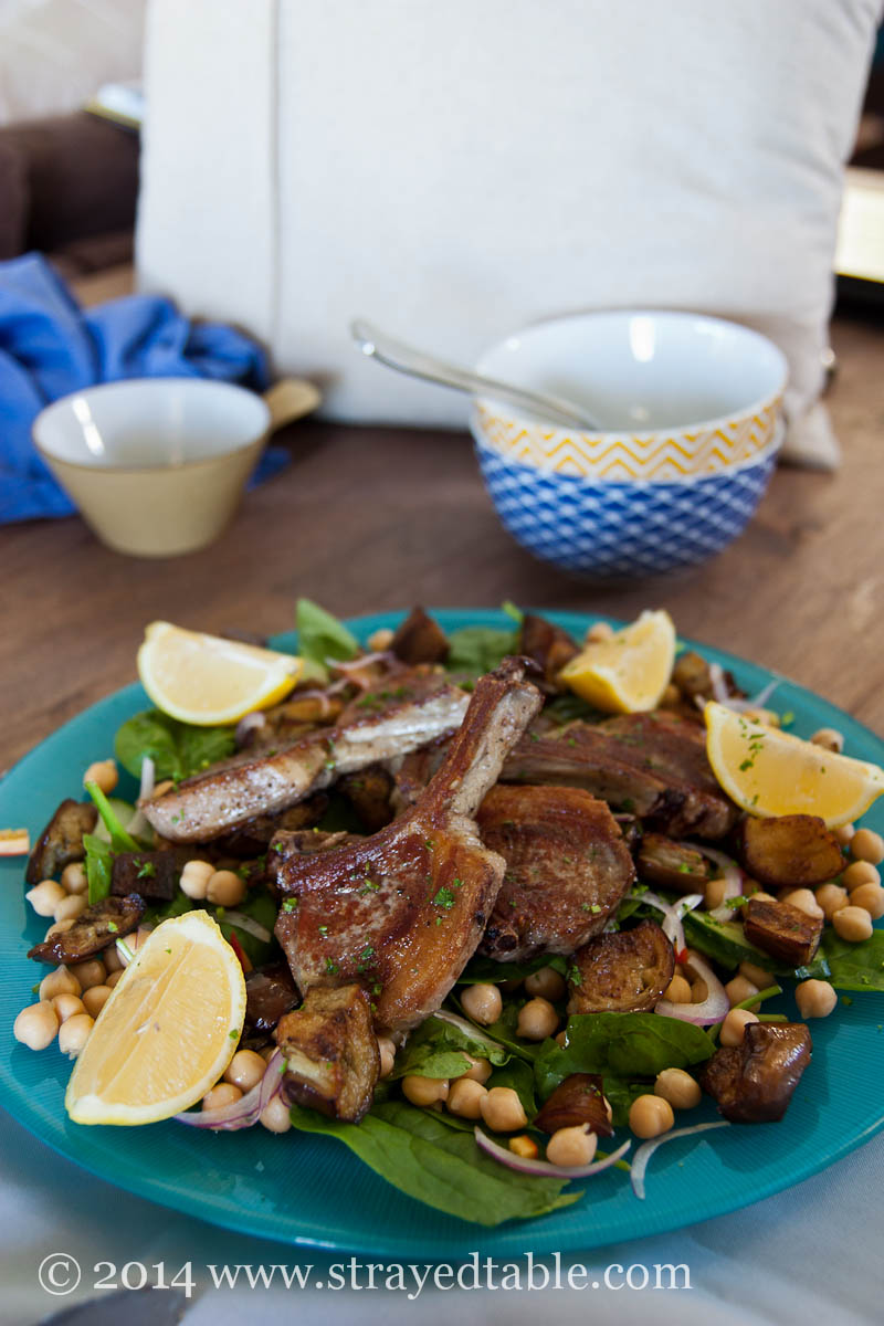 Lamb and Eggplant Salad Recipe : Strayed Table