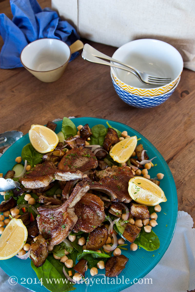 Lamb & Eggplant Salad : Strayed Table