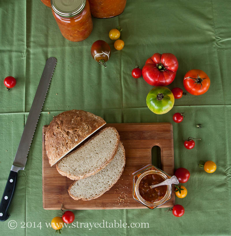 Tomato Relish Recipe @ Strayed from the Table