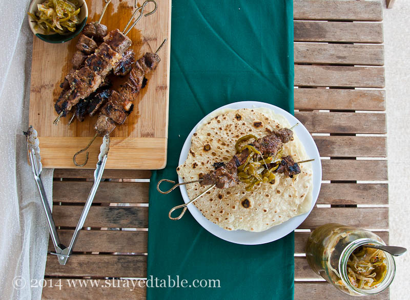 Beef Skewers with Green Chili Jam Recipe - Strayed from ...