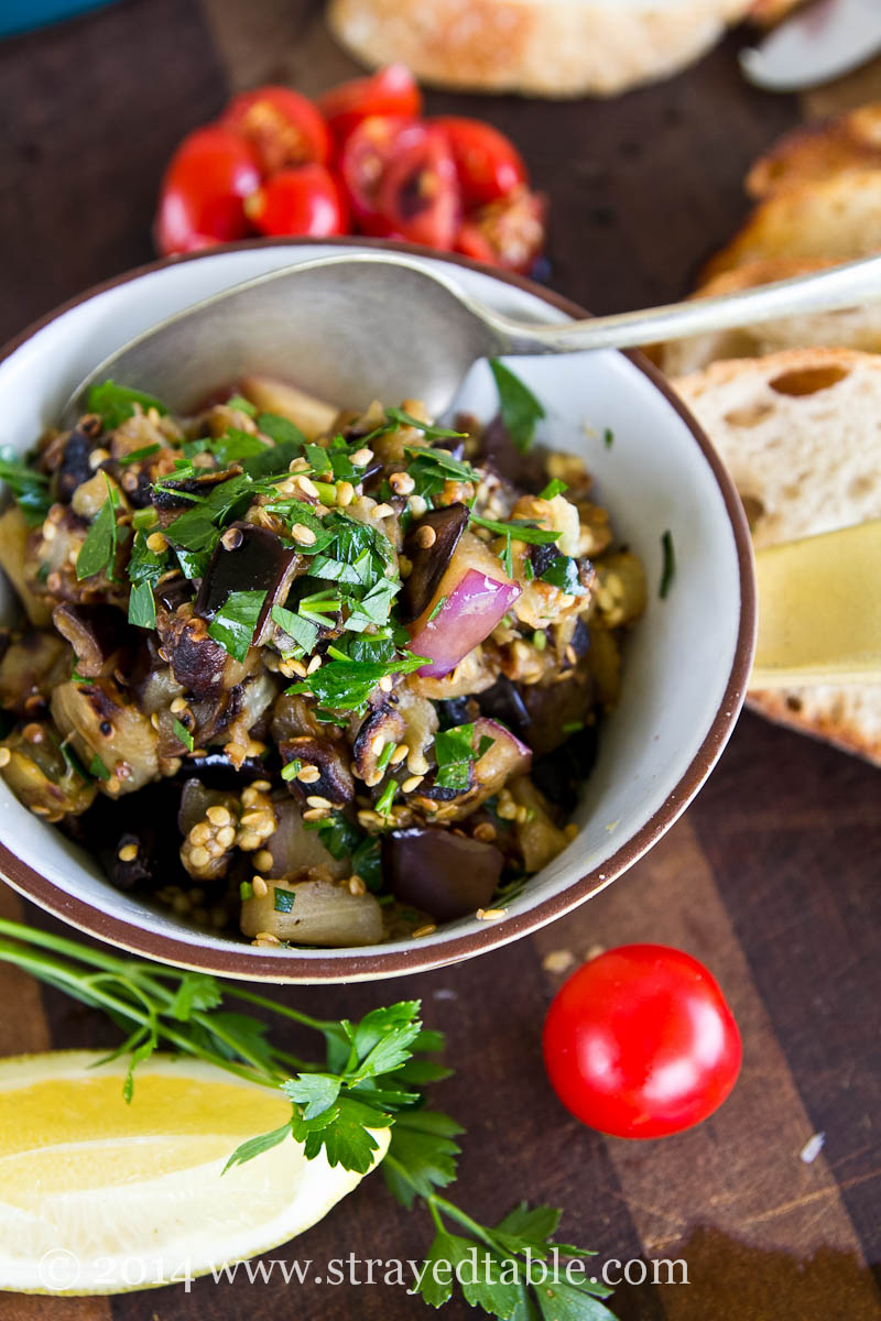 Eggplant Bruschetta Recipe @ Strayed from the Table