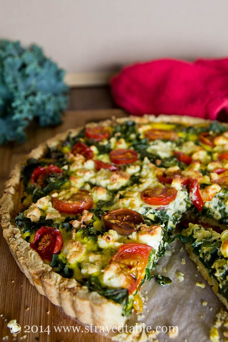 Kale and Cherry Tomato Tart Recipe @ Strayed from the Table