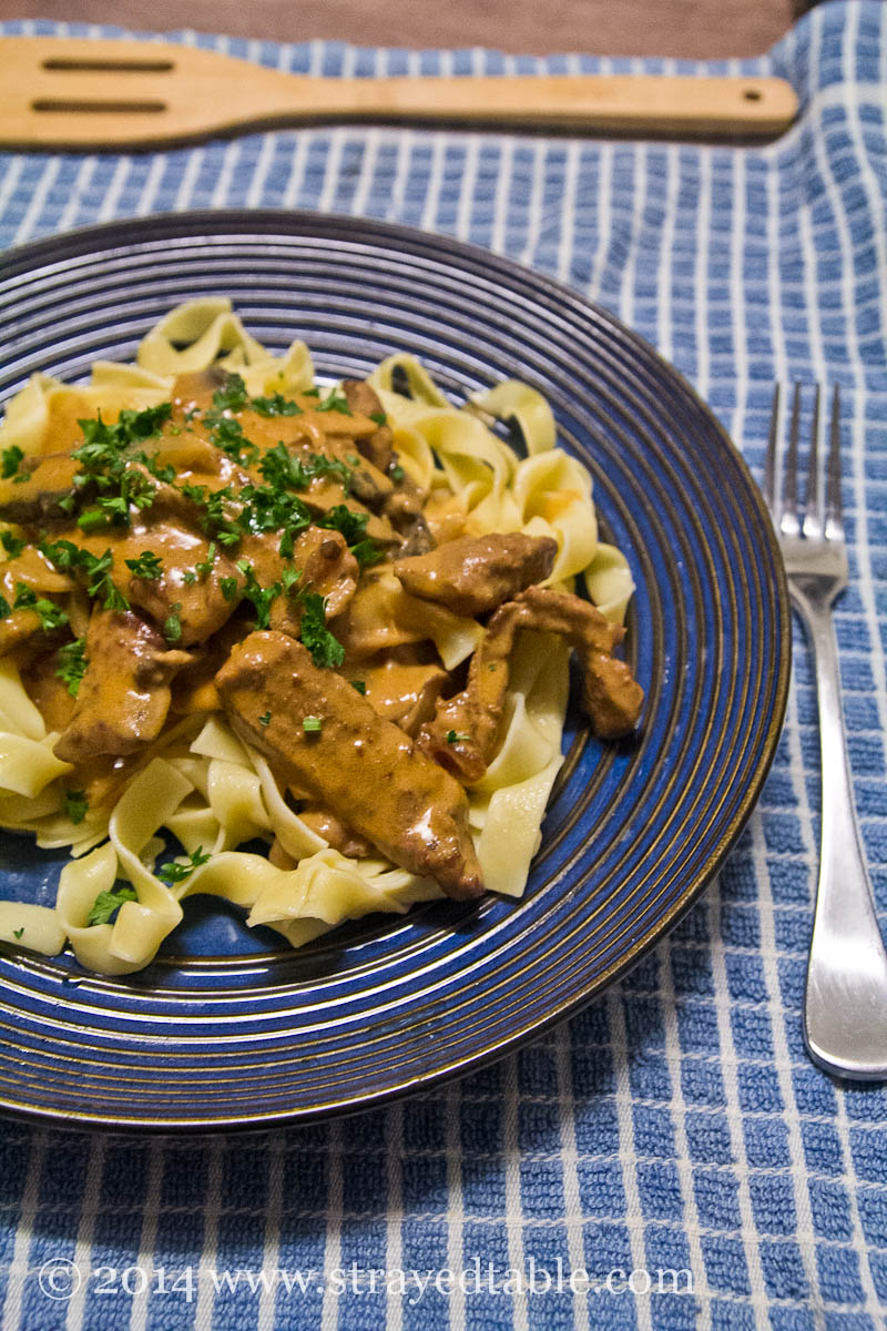 beef stroganoff @ Strayed from the Table