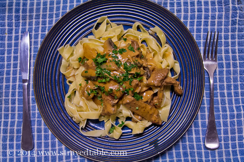 beef stroganoff recipe @ strayed from the table
