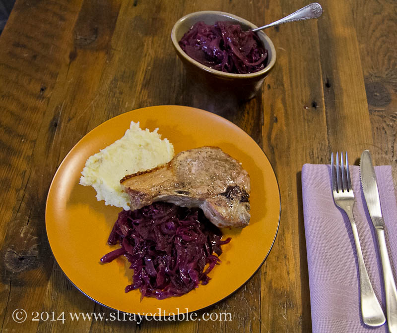 Braised Red Cabbage Recipe @ Strayed from the Table