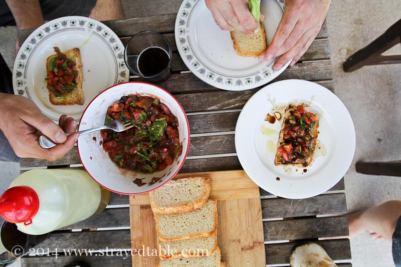 Tomato Bruschetta @ Strayed Table