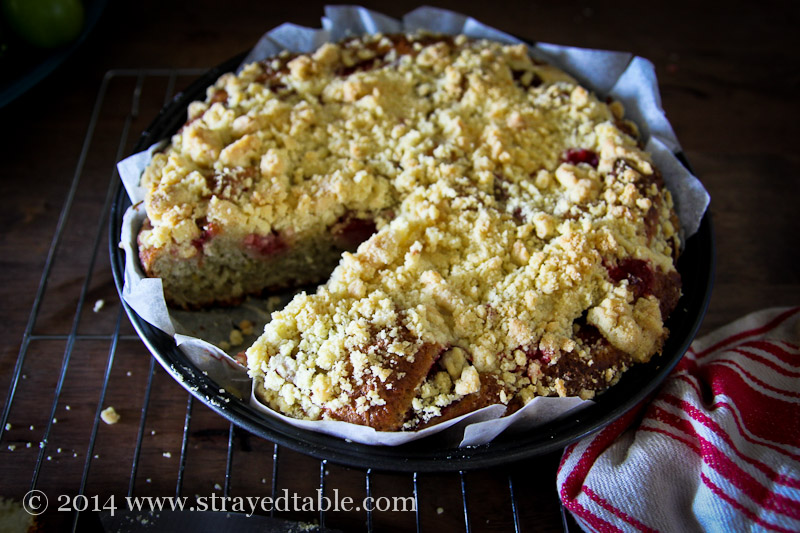 Strawberry Crumble Cake Recipe @ Strayed from the Table