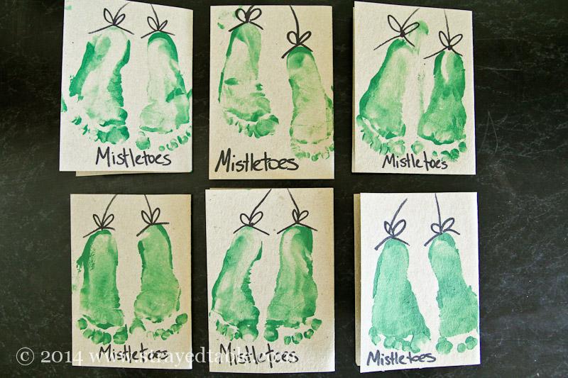 Mistletoes christmas cards