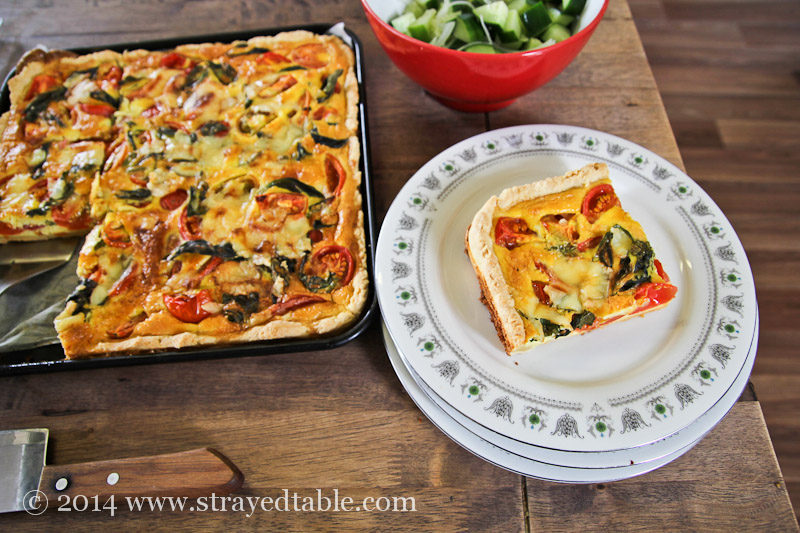 Homegrown Tomato & Basil Tart Recipe