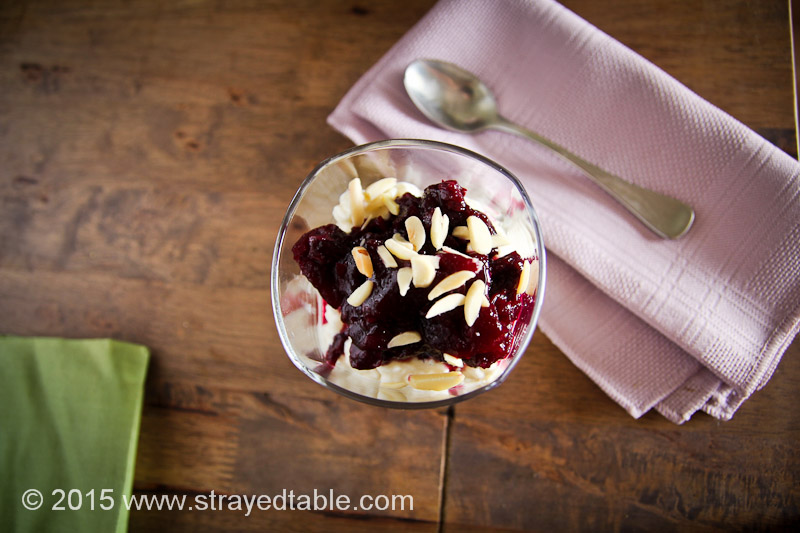 Rice Pudding w Apple & Blueberry Compote Recipe