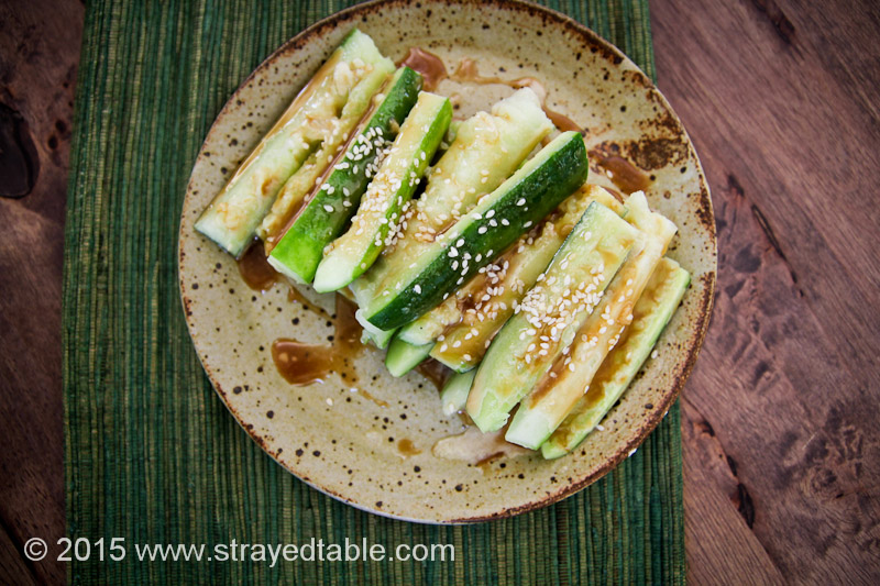 Crushed Cucumber with Sesame Dressing
