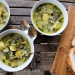 Potato, Leek & Spring Onion Soup