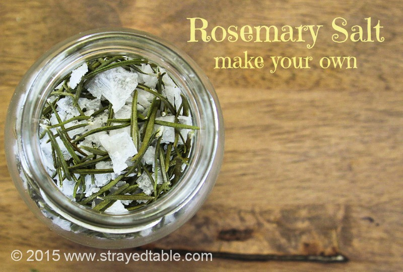 DIY: Rosemary Salt - Strayed from the Table