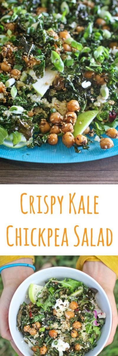 Crispy Kale, Quinoa & Chickpea Salad