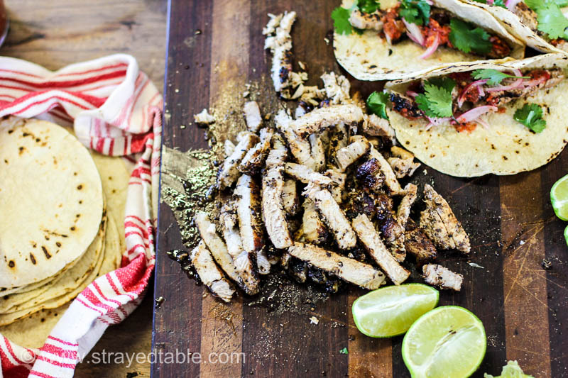 Grilled Pork Taco Recipe with easy pickled onions