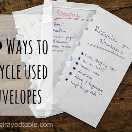 Six Ways to Recycle Used Envelopes