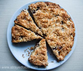 Cherry Coconut Crumble Cake Recipe Thumbnail
