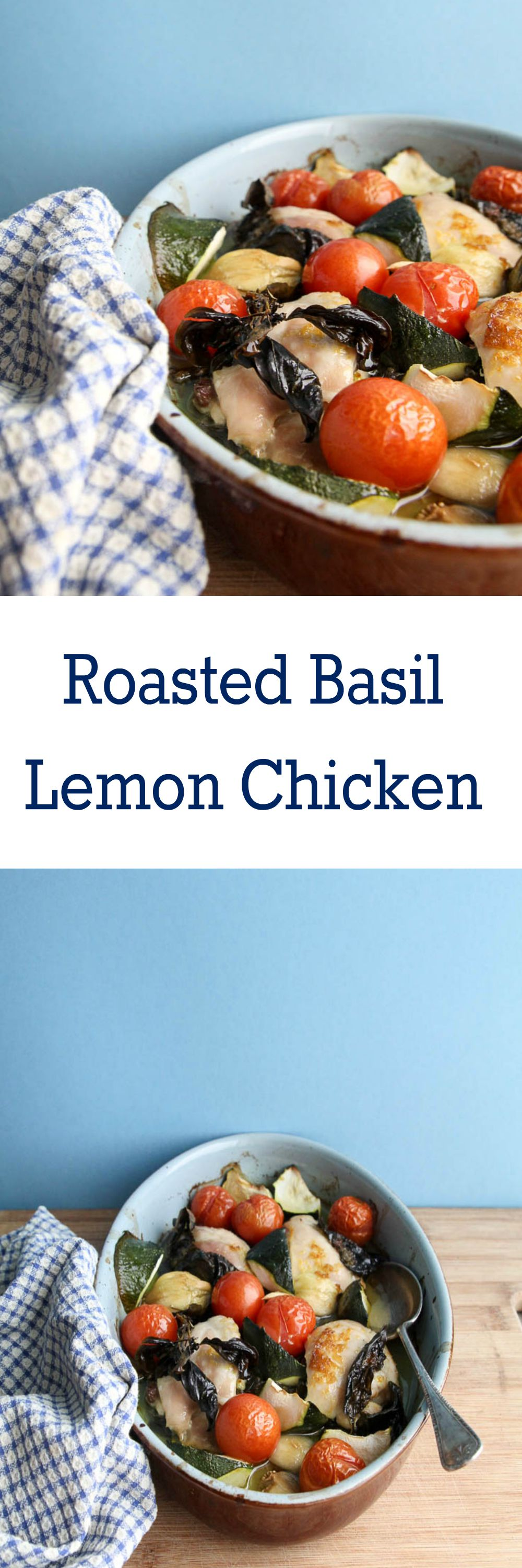 Roasted Basil Lemon Chicken