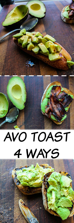 Avocado Toast | 4 Ways