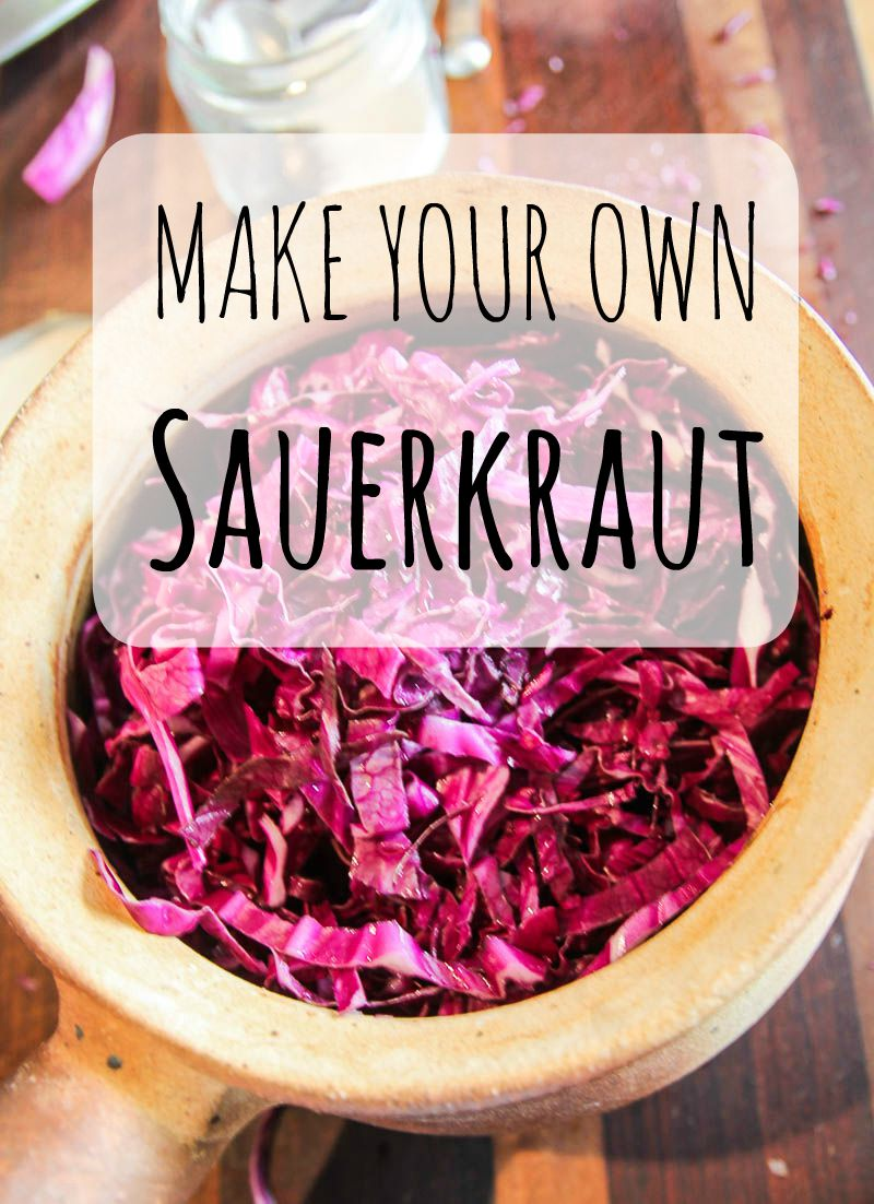 Red Cabbage Sauerkraut Recipe