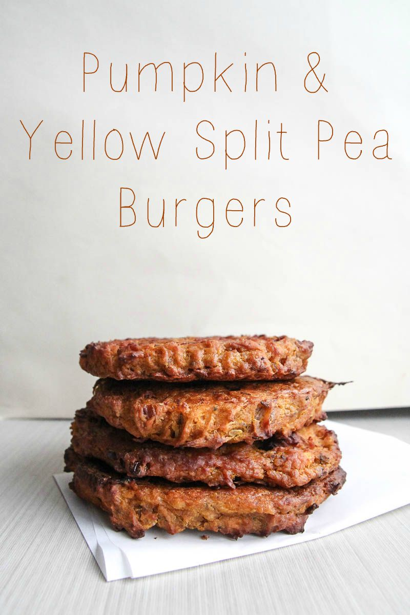 Pumpkin & Yellow Split Pea Burgers