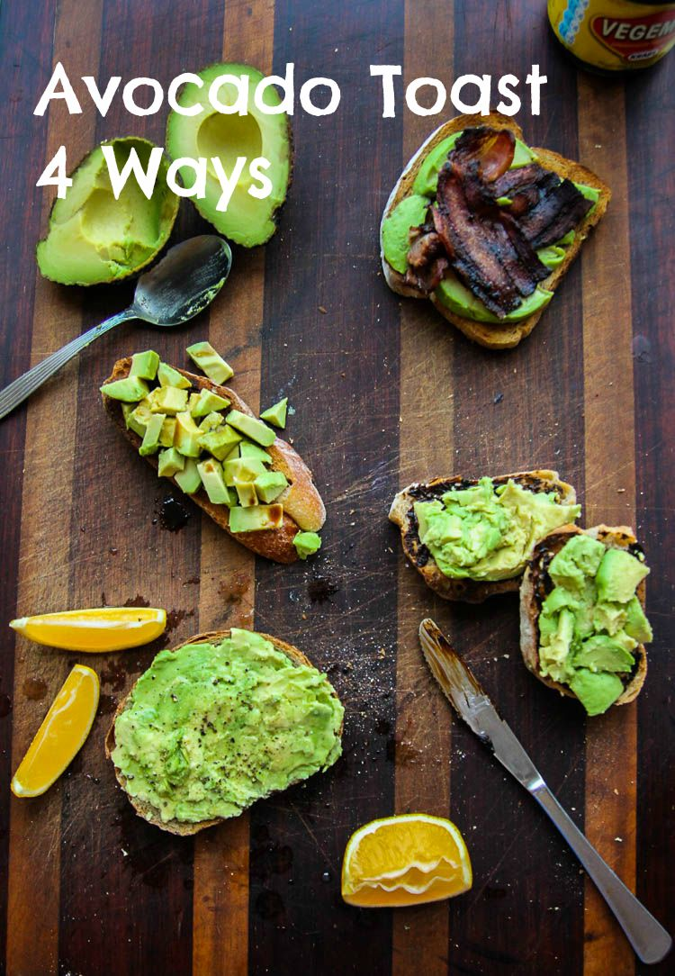 Avocado Toast | 4 Ways
